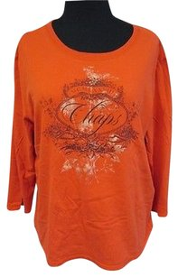 Chaps Knit Top Orange