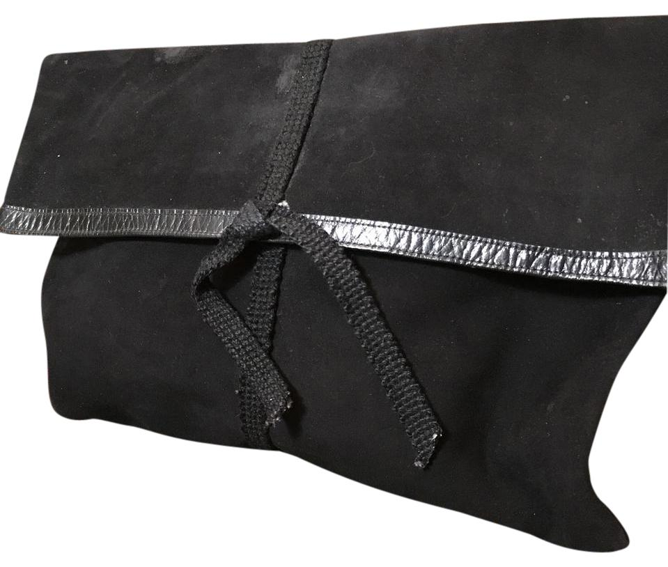 Charles Jourdan Black Leather And Suede Clutch Grg8QyJ