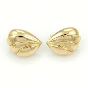 Charles Krypell Charles Krypell Shell Shape Puffed Earrings In 14k Yellow Gold