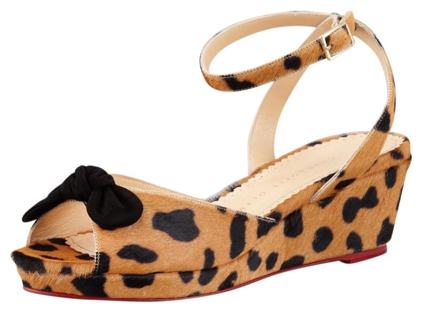 sale online cheap outlet store Charlotte Olympia Ponyhair Printed Sandals 2014 unisex online cheap sale low shipping for sale top quality A749HNR