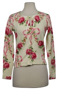 Charlotte Russe Charlotte Womens Floral Cardigan Casual Long Sleeve Sweater