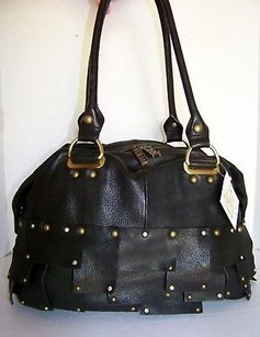 Charm and Luck Rome 130 Satchel in Black