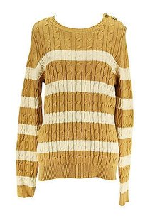 Charter Club Striped Womens Cotton Blend Sweater