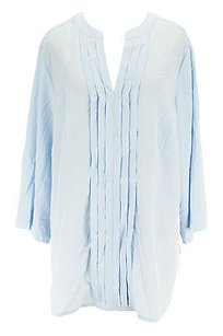 Charter Club Womens Polyester Top blue