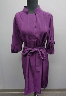 Chetta B. by Sherrie Bloom and Peter Noviello short dress Purple B Eggplant Polyester 34 Sleeve Shift Sma674 on Tradesy