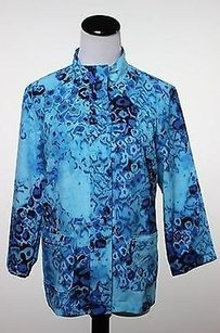 Chico's Additions By Chicos Womens Blue Jacket