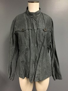 Chico's Chicos High Neck Button Gray Jacket