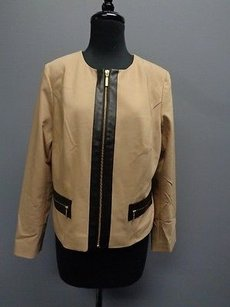 Chico's Chicos And Black Lined Tan Jacket