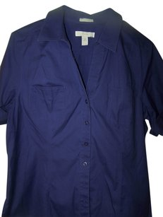 Chico's Button Down Shirt Purple