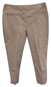 Chico's Capris Cropped Relaxed Pants taupe
