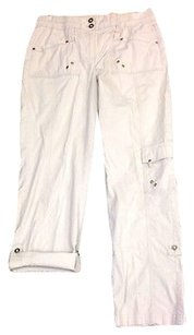 Chico's Cargo Relaxed Pants Gray