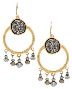 Chico's Chico's Druzy Chandelier Earrings NWT $29