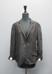 Chico's Chicos Black With Polka Dot Lining Long Sleeved Blazer Sm4115