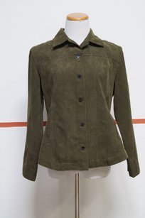 Chico's Chicos Green Long Sleeve Collar Button Front Causal Jacket Blazer 1 18917