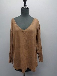 Chico's Chicos Design V Neck Top Brown