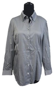 Chico's Chicos Solid Long Top Silver