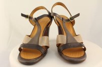 Chie Mihara Womens Pewter / Beige / Gray Pumps