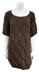 Chloé short dress Brown Cable Knit Chunky Sweater on Tradesy