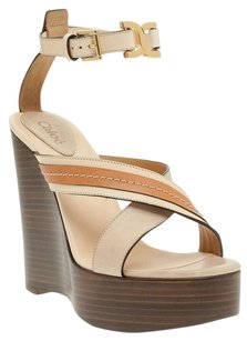 Chloé Chloe Heels Ankle Strap Isabel Marant Tory Burch Tan Wedges