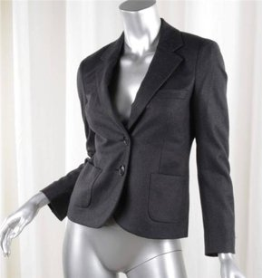 Chlo Chloe Womens Charcoal Gray Long-sleeve Two-button Blazer Jacket