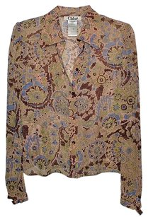 Chloé Chloe Womens Multicolor Top Tan