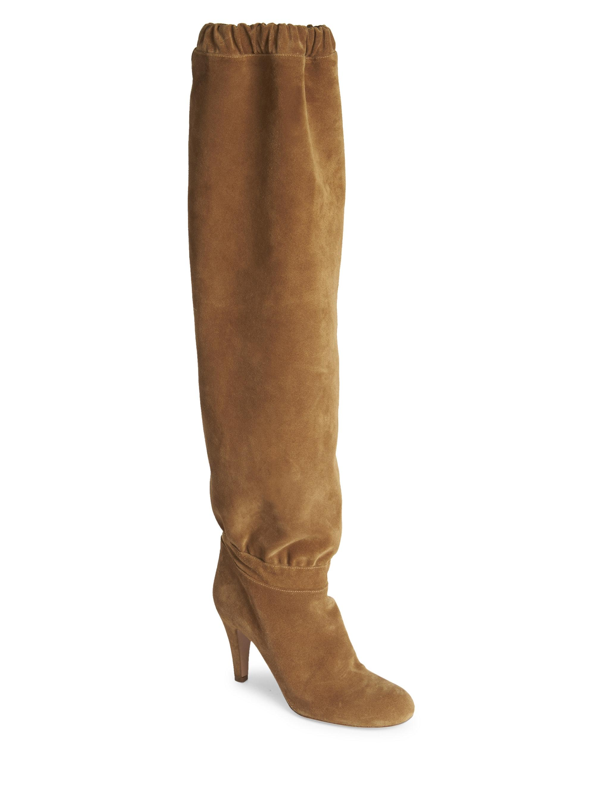Chloé New Lena Slouchy Suede Over The Knee Boots/Booties Size EU 36 (Approx. US 6) Regular (M, B)