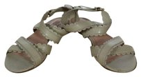 Chloé See By Chloe Womens Leather Strappy Italy Beige Sandals