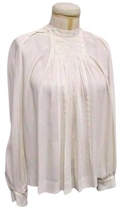 Chloé Chloe With Pleating Detail At Front Top Ecru