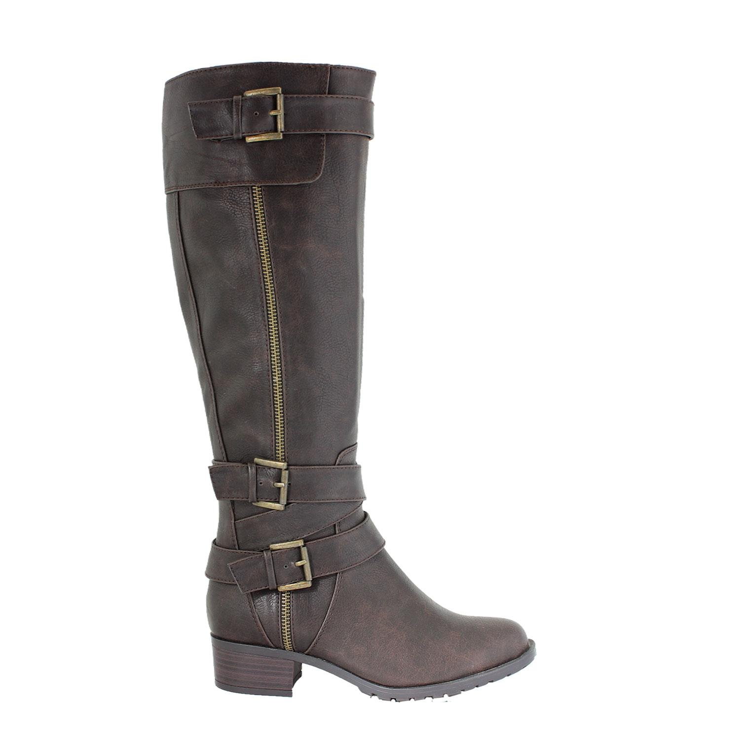 Chocolate Monaco Tumble Wide Calf US Riding If10550b3 Boots/Booties Size US Calf 11 Regular (M, B) b3e0ac