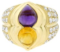 Chopard CHOPARD 18K YELLOW GOLD DIAMOND AND SAPPHIRE RING