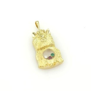 Chopard Chopard 18k Yellow Gold Happy Diamond Emerald Ruby Ihasa Apso Dog Pendant