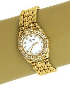 Chopard Chopard Diamond Bezel 18k Yellow Gold Ladies Wrist Watch Quartz