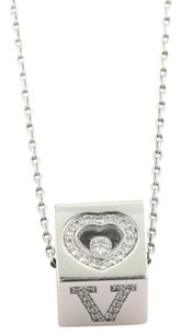 Chopard Chopard Diamond Love Ice Cube 18k White Gold Pendant Necklace