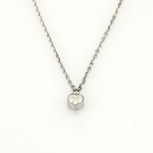 Chopard Chopard Happy Diamond 18k White Gold Mini Heart Pendant Chain Necklace