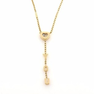 Chopard Chopard Happy Diamonds 18k Yellow Gold I Love You Heart Lariat Necklace