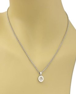Chopard Chopard Happy Diamonds Oval Pendant Necklace In 18k White Gold
