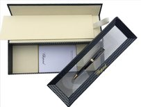 Chopard CLASSIC RACING BALLPOINT PEN BLACK - YELLOW GOLD PLATED