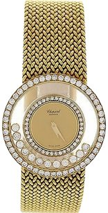 Chopard Ladies Chopard Happy Diamond 18k Yellow Gold Watch 212927