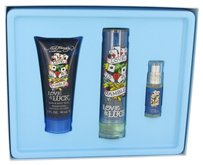 Christian Audigier LOVE & LUCK ~ Men's Gift Set -- 1.7 oz EDT Spray + 3 oz Hair & Body...