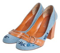 Christian Dior Denim/Orange Pumps