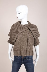 Christian Lacroix Lacriox Brown Woven Sweater