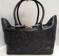Christian Lacroix Leather Satchel in Black
