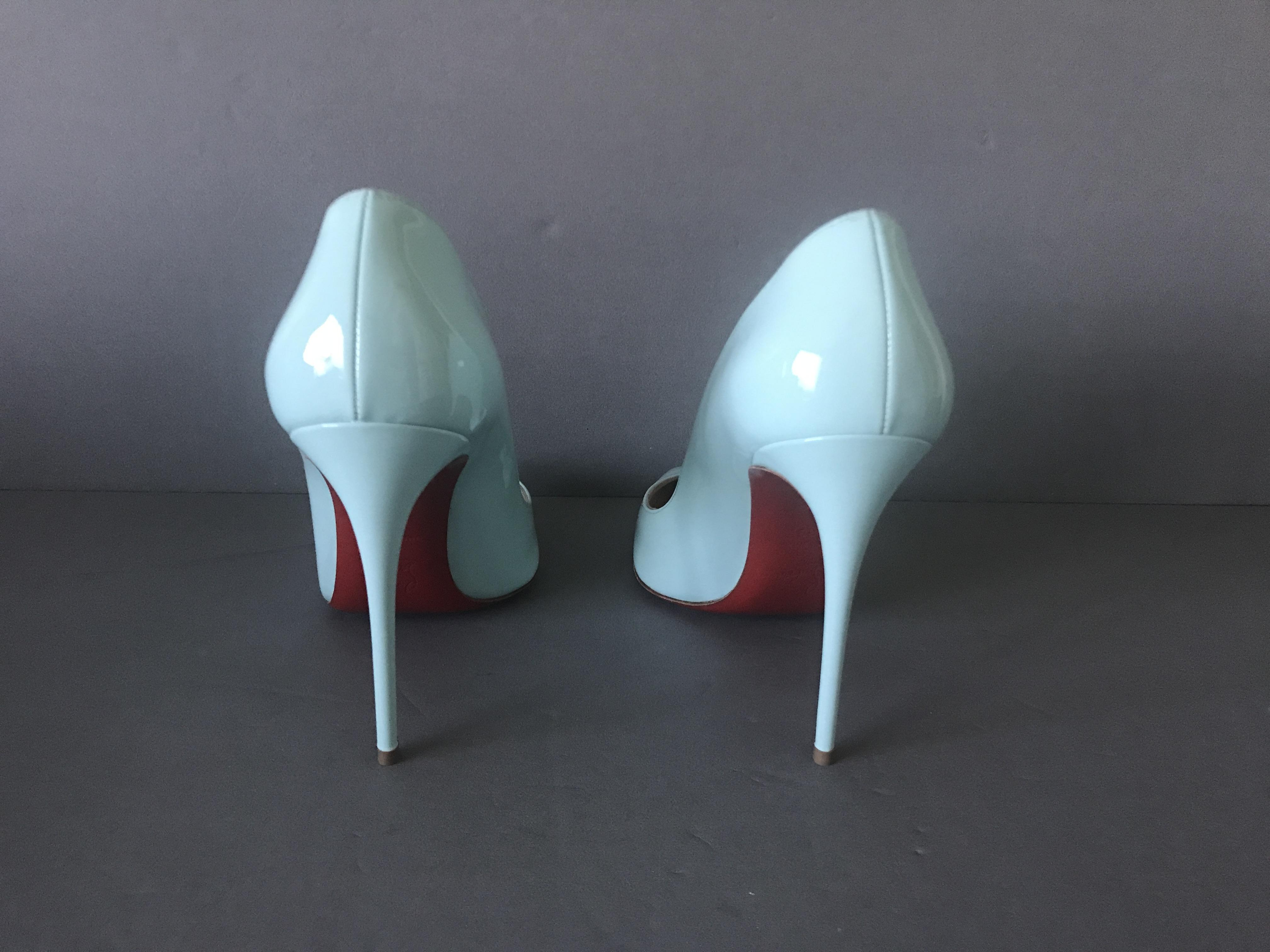 ed99eb6c3c0 Christian Louboutin Aqua Blue Pigalle Follies 100 Source Source ...