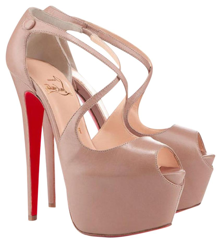 christian louboutin beige pumps