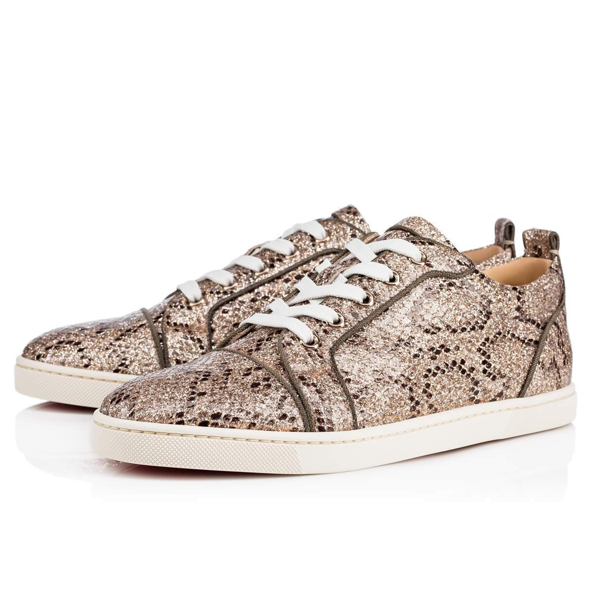 pretty nice 222c6 5a773 real christian louboutin sneakers studded lace 18e42 a7860