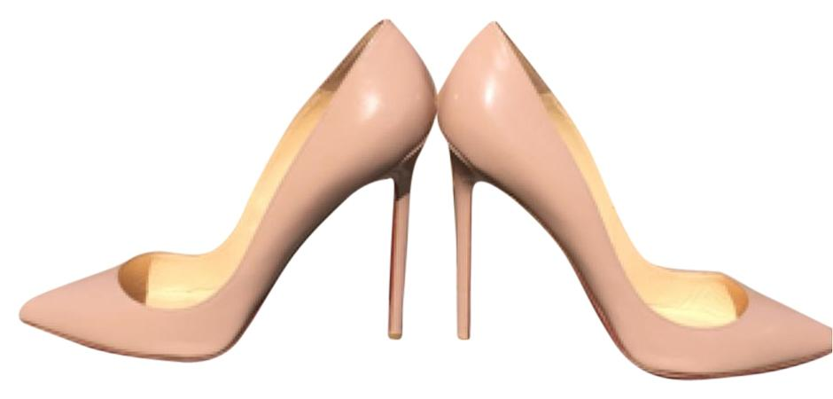Christian Louboutin Beige Pigalle 120 Patent Leather 39 - 9 Pumps Size US 8.5 Regular (M, B)