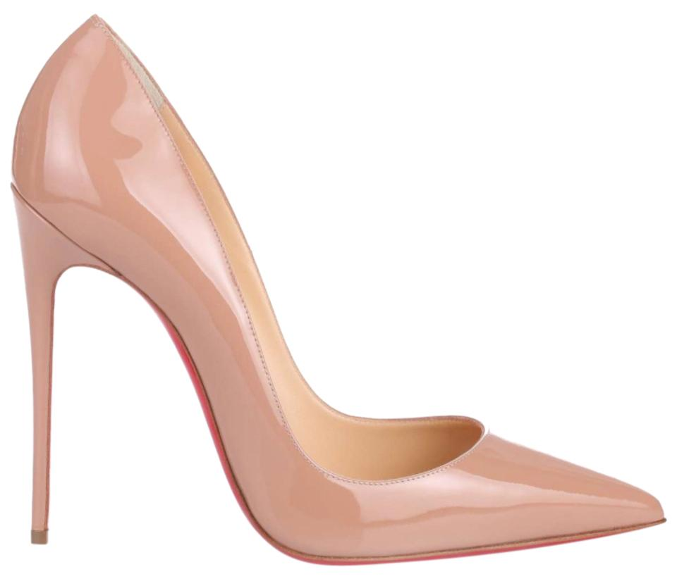 save off d9ee9 a3d88 Christian Louboutin Beige So Kate In Nude Patent Patent ...