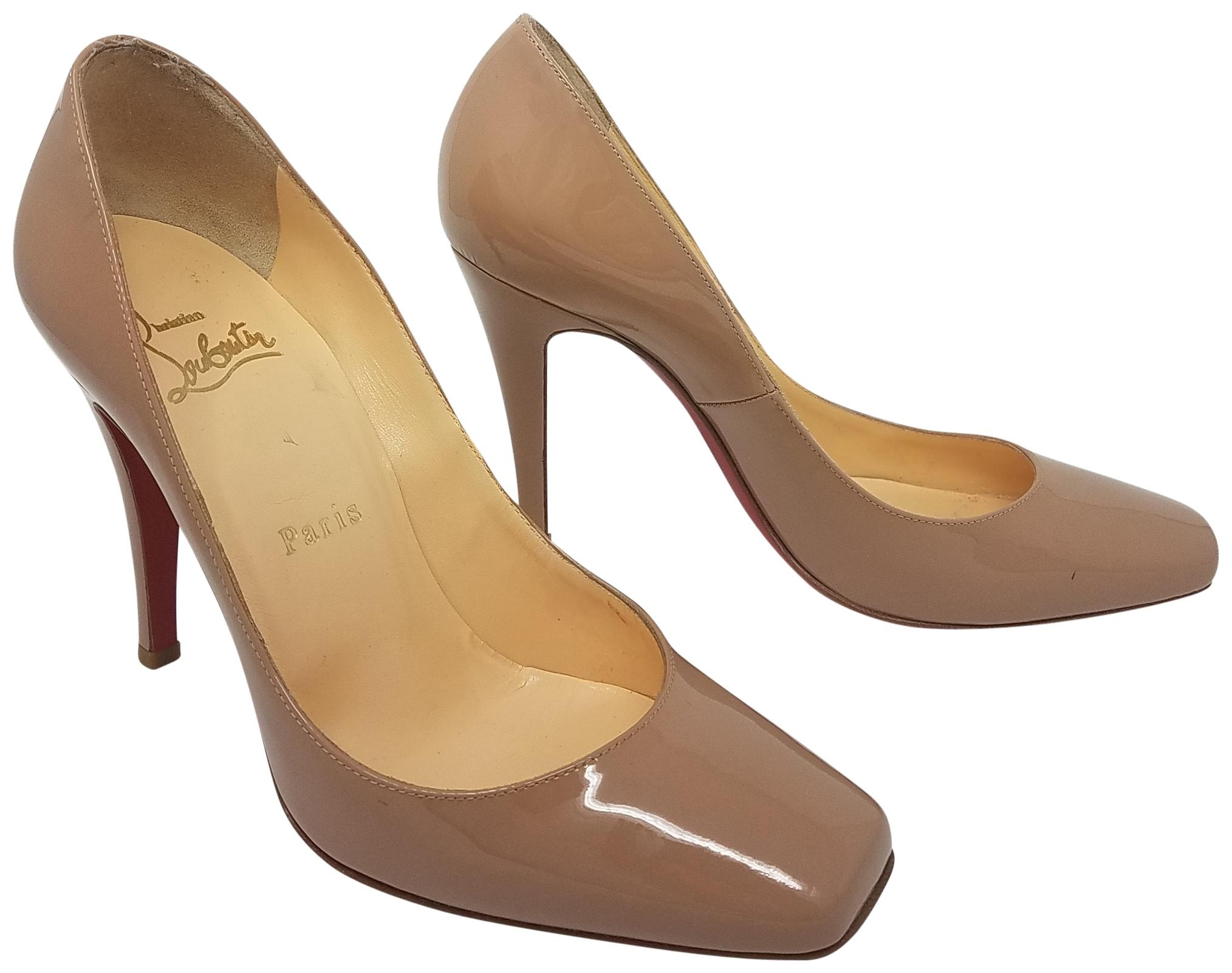 Christian Louboutin Leather Square-Toe Pumps cheap online store Manchester 1uitlW
