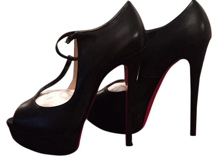 Christian Louboutin Black Altapoppins Platforms Size US 8 Regular (M, B)
