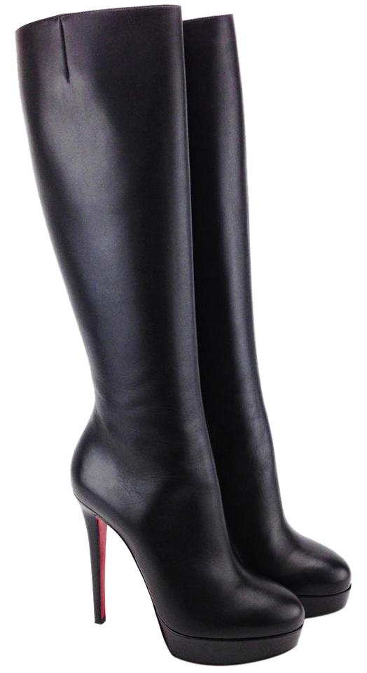 Christian Louboutin Black Bianca Botta Knee High Round Boots/Booties Size US 8.5 Regular (M, B)